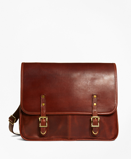 J.W. Hulme Leather Flap Messenger Bag