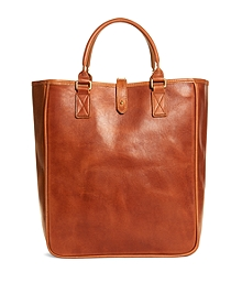 J.W. Hulme Leather North South Tote Bag