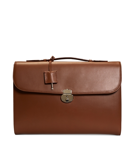 Classic Leather Briefcase Cognac