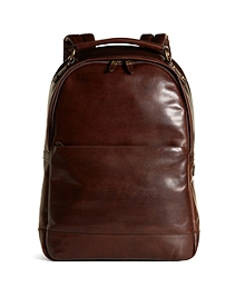Distressed Leather Backpack
