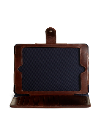 Distressed Leather Mini iPad Case