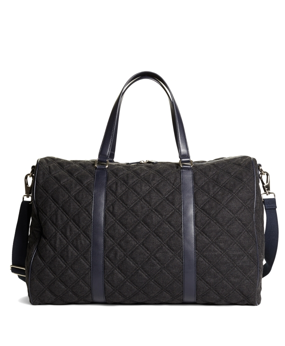 Quilted Duffle Bag Grey