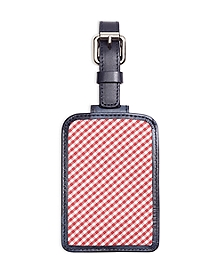 Gingham Luggage Tag