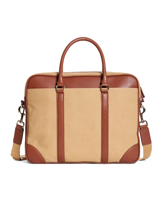 Canvas Soft Briefcase Khaki
