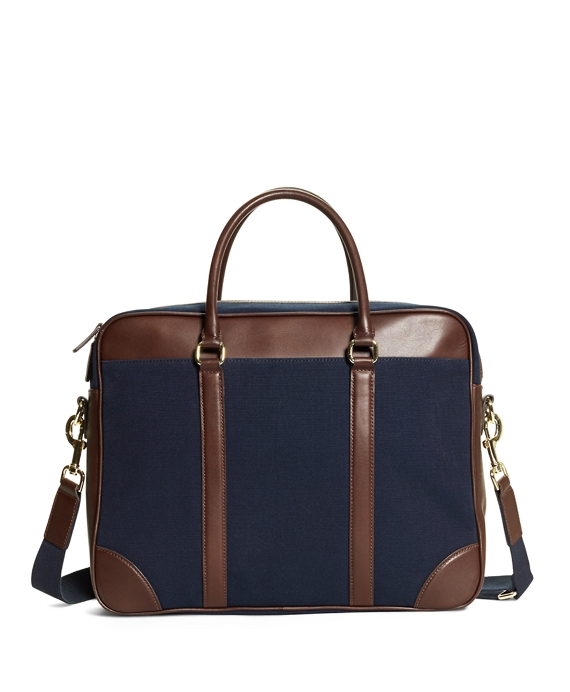 Canvas Soft Briefcase Navy