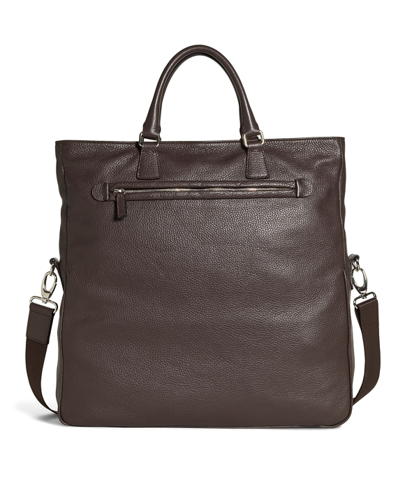 Pebble Leather Tote Brown