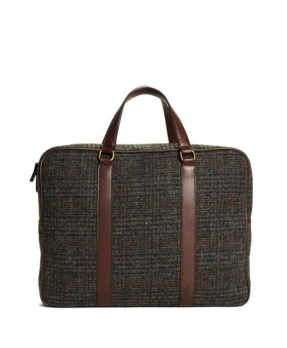 Harris Tweed Briefcase Green