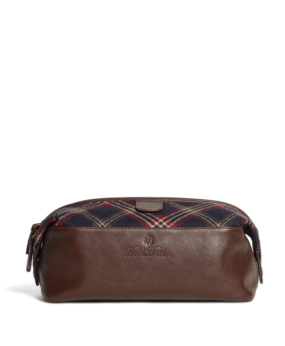 Brooks Brothers Signature Tartan Travel Case Navy