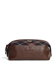 Brooks Brothers Signature Tartan Travel Case