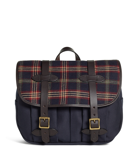 Exclusive for Brooks Brothers Filson® Tartan and Canvas Messenger Navy