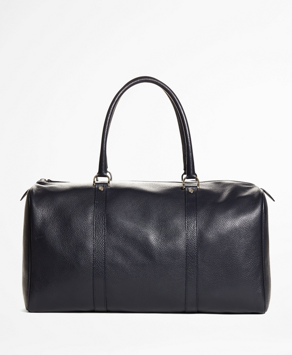 Pebble Leather Duffle Bag Navy