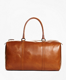 Vegetable Tan Leather Duffle Bag