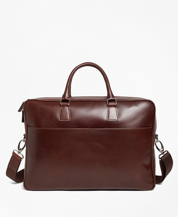Soft Leather Briefcase Brown