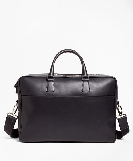 Leather with Black Watch Briefcase