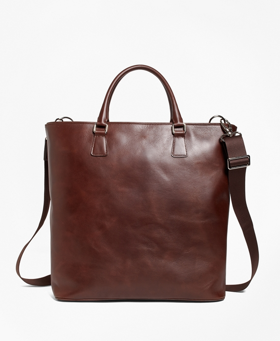 Soft Leather Tote Brown