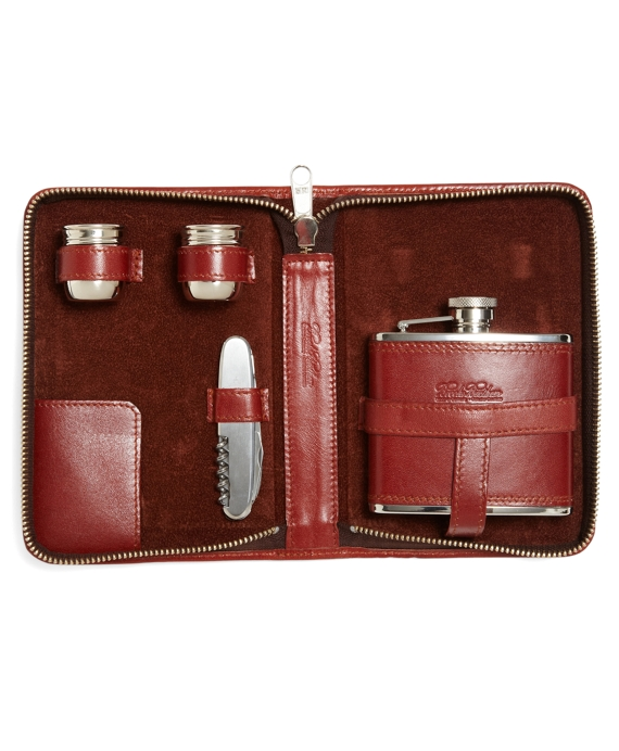 Traveling Flask Set Cognac