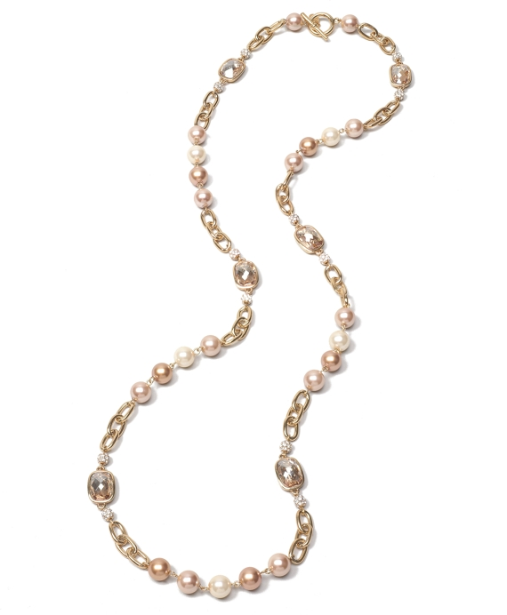 Gold Wash Illusion Necklace Gold