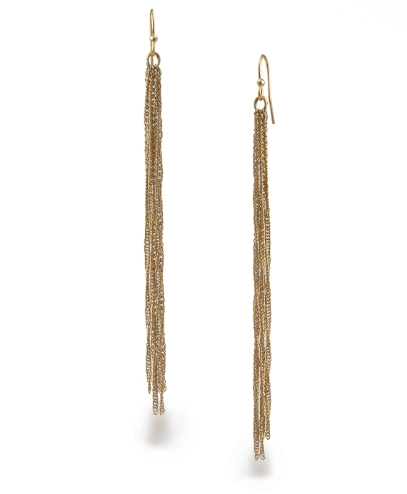 Tassel Drop Earrings Gold Tassel