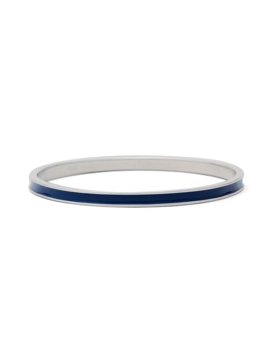 Thin One Stripe Enamel Bracelet Navy