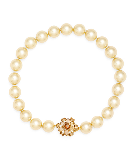Buy 12mm Glass Pearl Strand Necklace, see details about this diamond and more