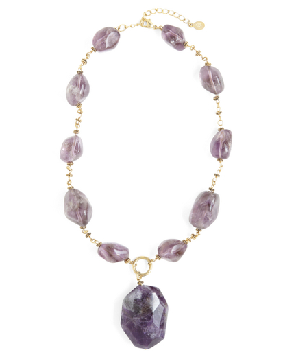 Buy Amethyst Pendant Necklace, see details about this diamond and more