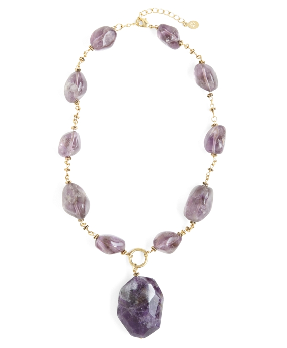Amethyst Pendant Necklace Amethyst-Gold