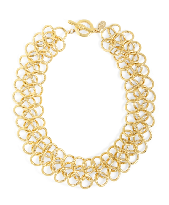 Linked Rings Necklace Gold