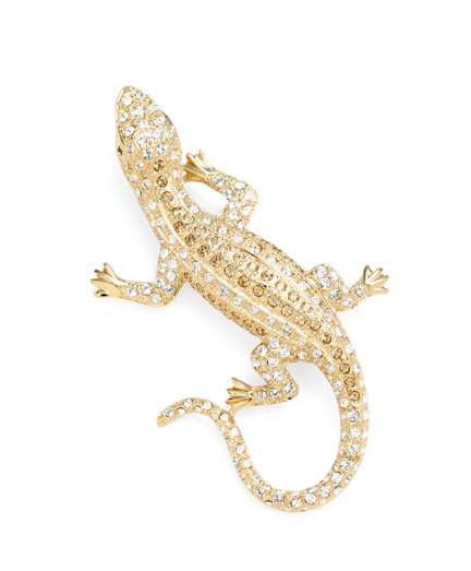 Buy Austrian Crystal Pave Lizard Brooch, see details about this diamond and more