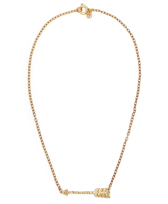 Arrow Chain Necklace Gold