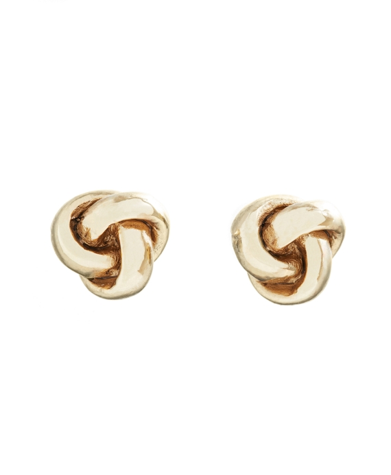 Knot Stud Earrings Gold