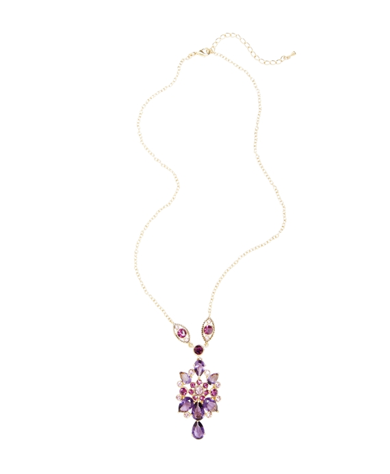 Vintage Floral Necklace Amethyst-Gold