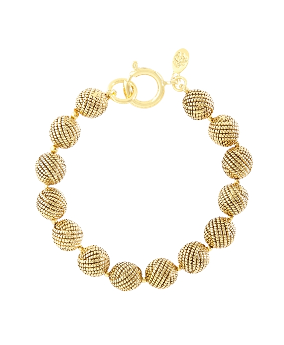 Textured Knot Bead Bracelet Gold