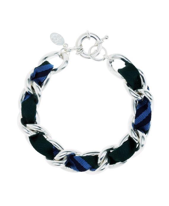 Ribbon Chain Bracelet Silver-Blue-Green