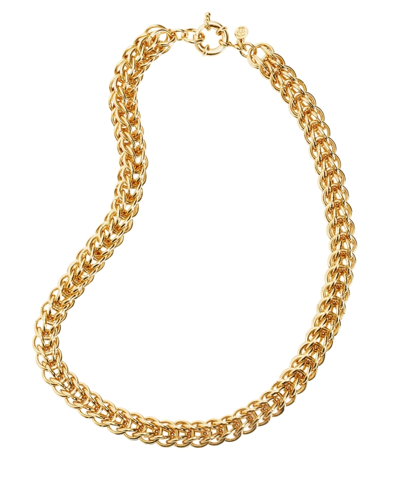 Woven Link Necklace Gold