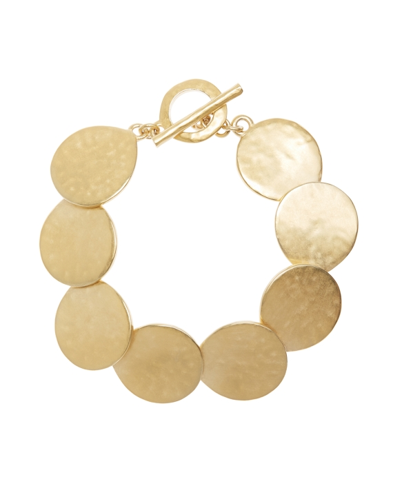 Gold Hammered Bracelet Gold