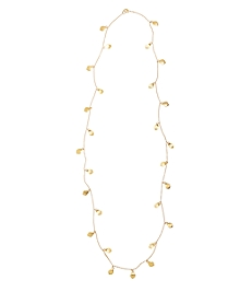 Gold Hammered Illusion Necklace