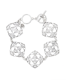Silver Filigree Drop Bracelet