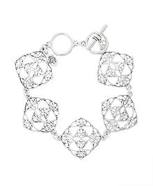 Silver Filigree Drop Bracelet