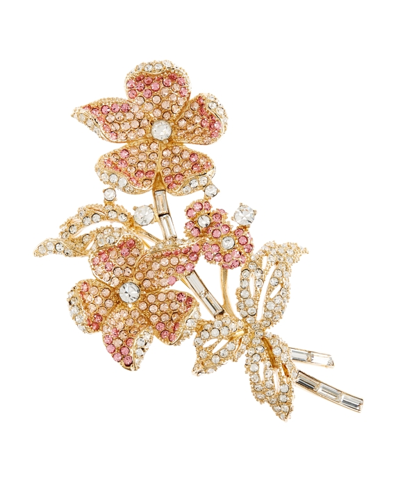 Ombre Flower Brooch Gold-Pink