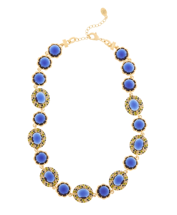 Crystal Stone Illusion Necklace Blue