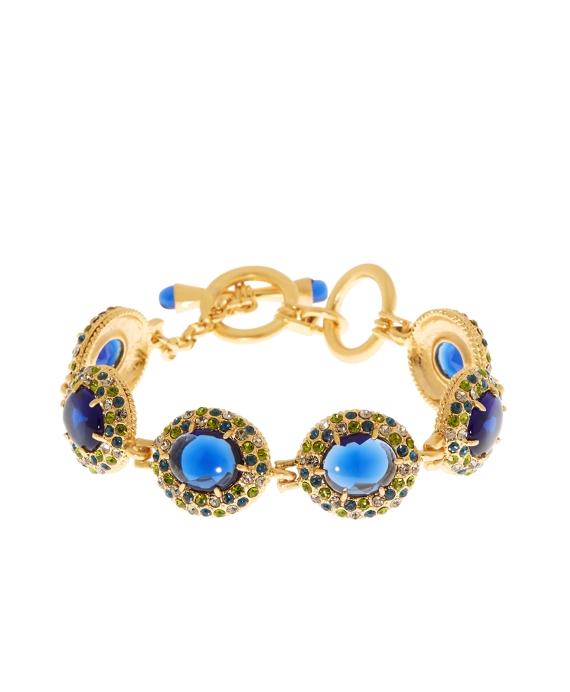 Crystal Stone Toggle Bracelet Blue