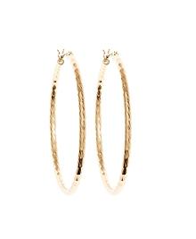 Gold Textured Hoop Earrings