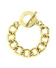 Gold Chain Toggle Bracelet