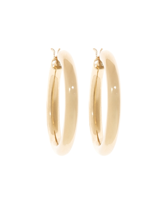 Gold Round Hoop Earrings Gold