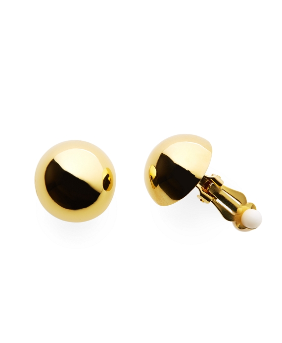 Gold Clip On Stud Earrings Gold