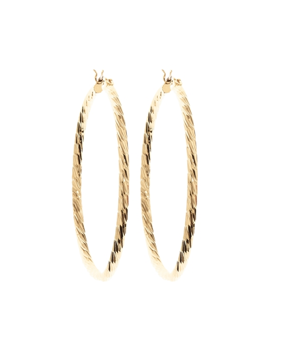 Diamond Cut Hoop Earrings Gold