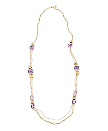 Amethyst & Topaz Illusion Necklace