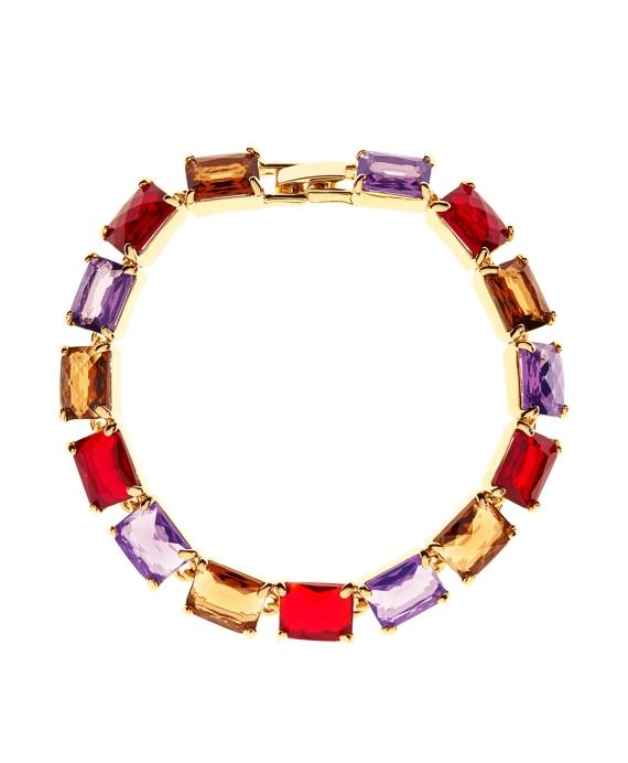 Amethyst & Topaz Bracelet Gold