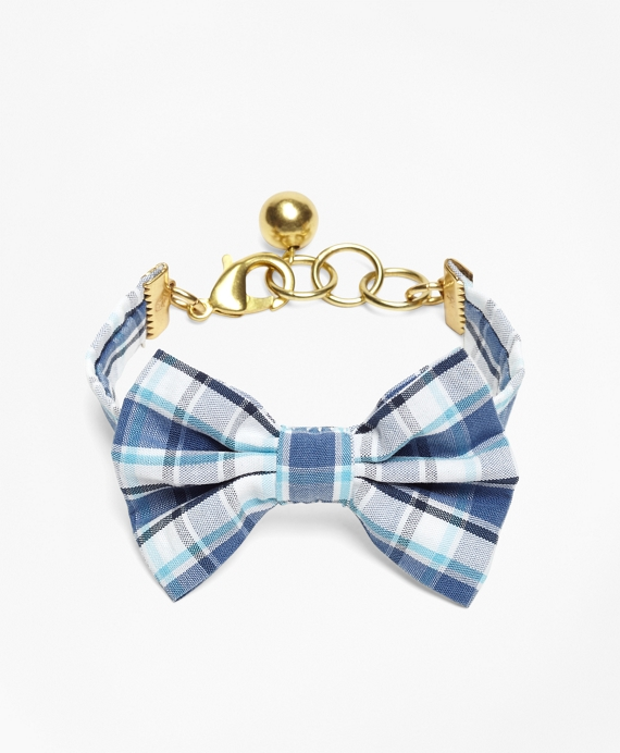Kiel James Patrick Seersucker Plaid Bow Tie Bracelet Blue