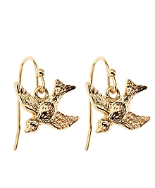 Bird Charm Earrings